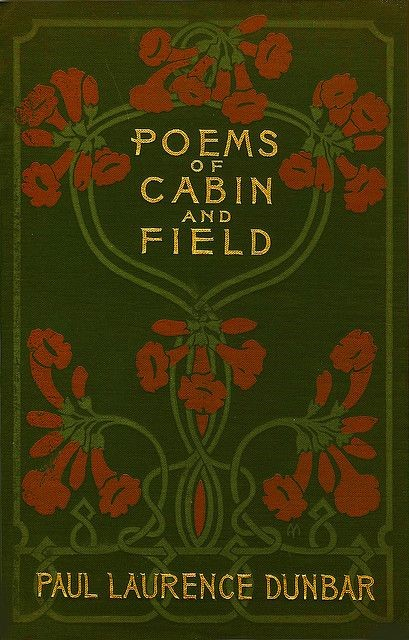 Cover of book Poems of Cabin and Field, with floral design