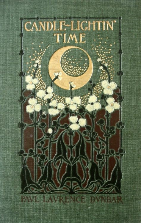 Cover of book titled Candle Lightin' Time, with flowers and moon design