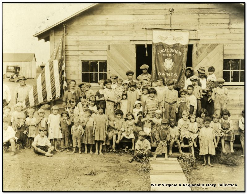 Miner's children at Owings, Harrison County, West Virginia