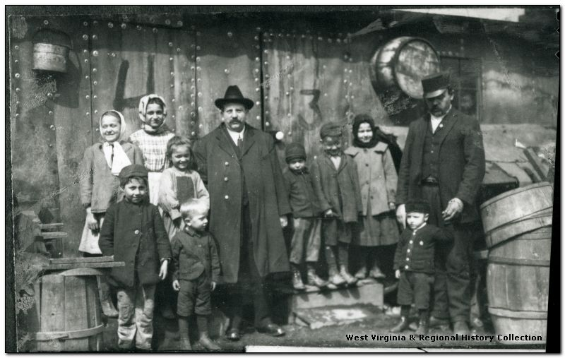Miner and family, location unidentified