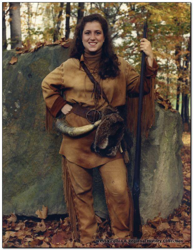 Natalie Tennant in WVU Mountaineer garb