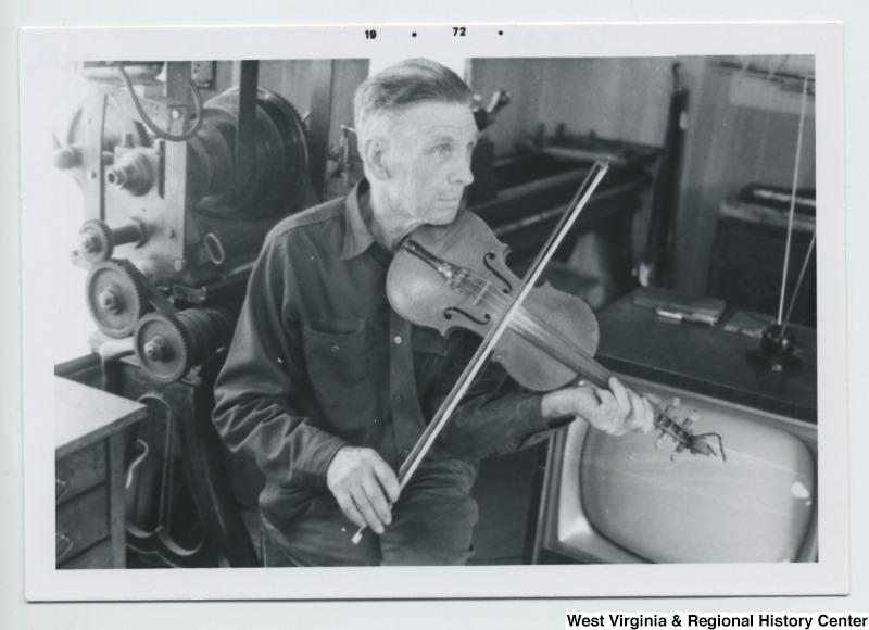 Norman Zumbach with violin