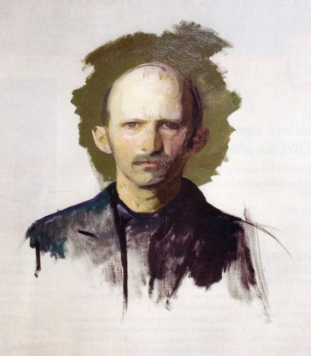 Self-Portrait of Abbott Handerson Thayer, not finished
