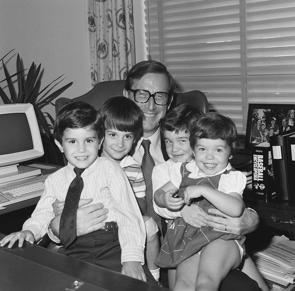Senator Rockefeller with children