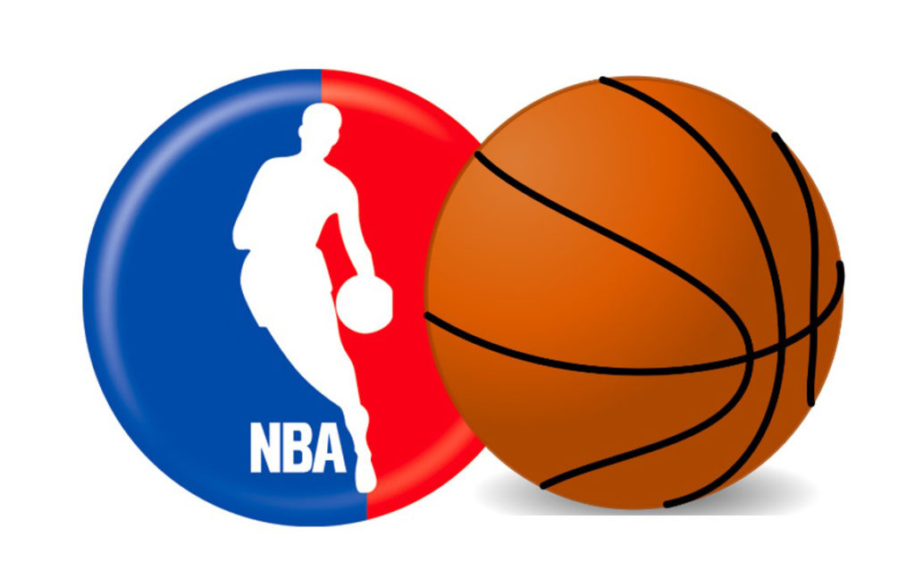 NBA Logo and Basketball