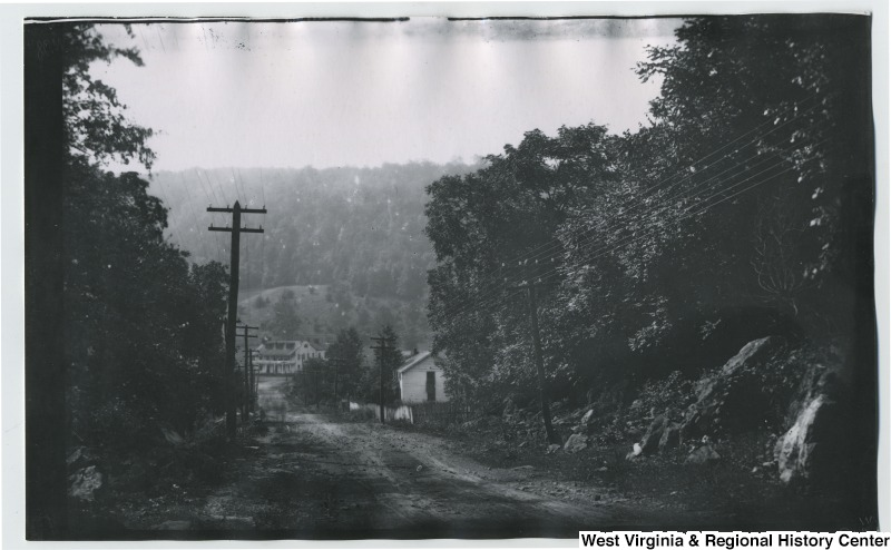 Clarysville Inn--old tavern on a road surrounded by trees
