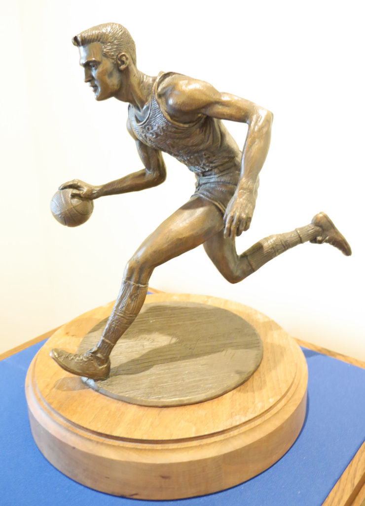 Small statue of Jerry West