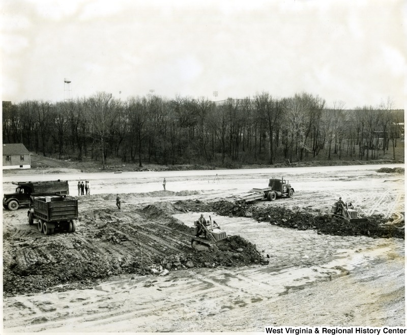 Workmen Grading for Shopping Center at University and Patteson, Morgantown, WV