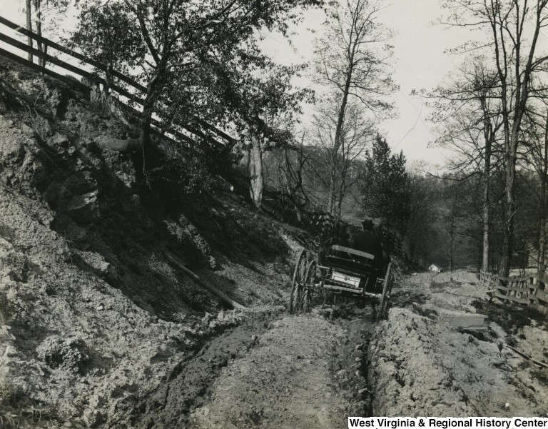 Horse and Buggy on Falling Run Road (dirt), 1895