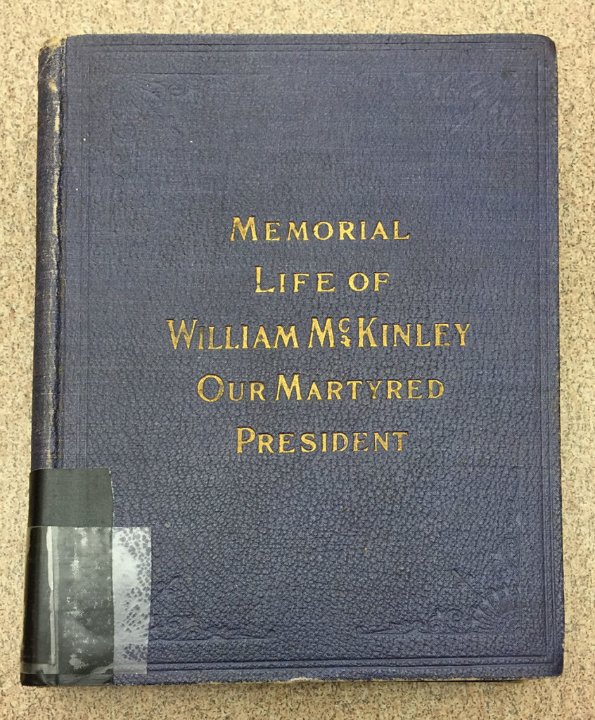 Purple book cover of Memorial Life of William McKinley Our Martyred President