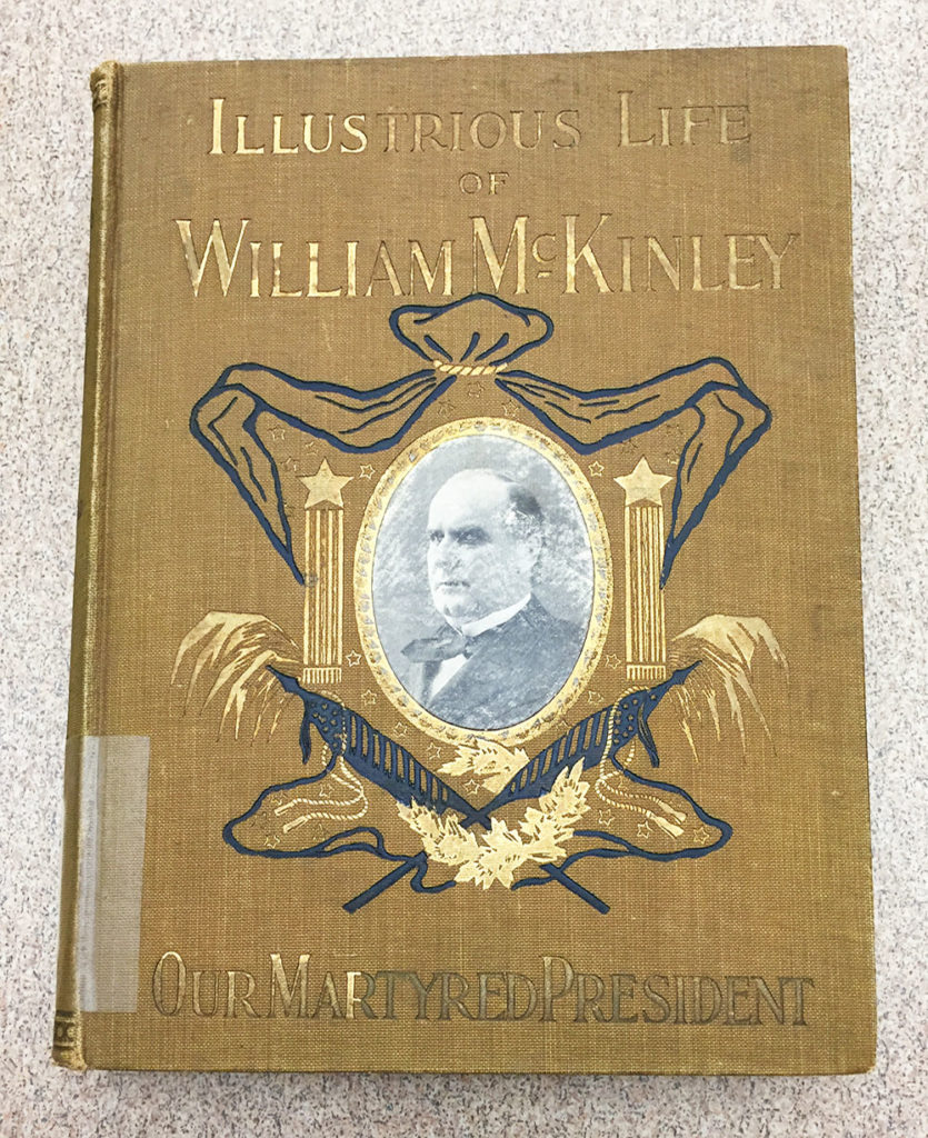 Mustard-colored cover of Illustrious Life of William McKinley