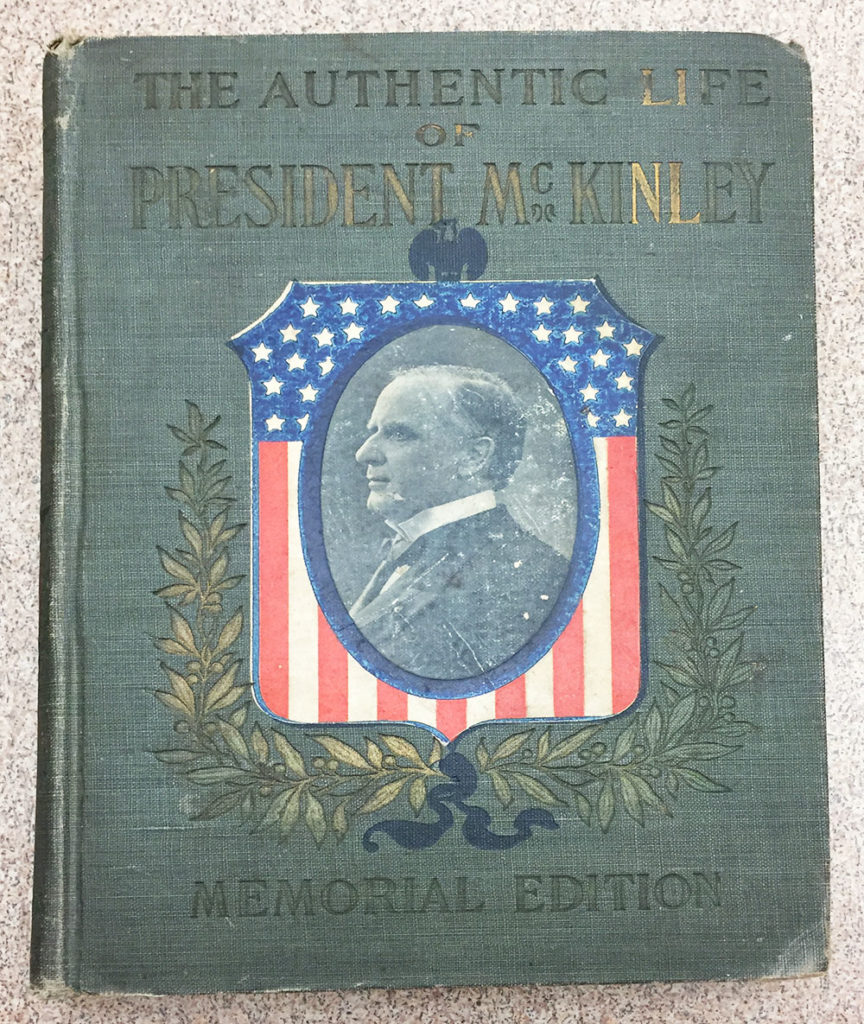Blue cover of the Authentic Life of President McKinley