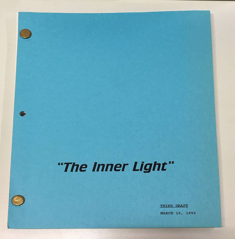 "Cover of script for ""The Inner Light."""