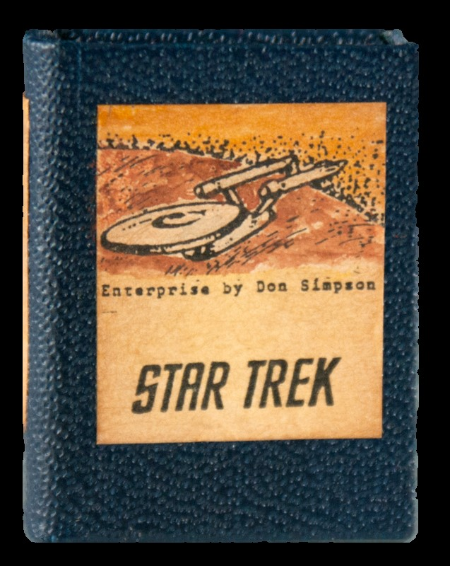 Front cover of miniature book titled Star Trek: A Television Series, 1966-69.