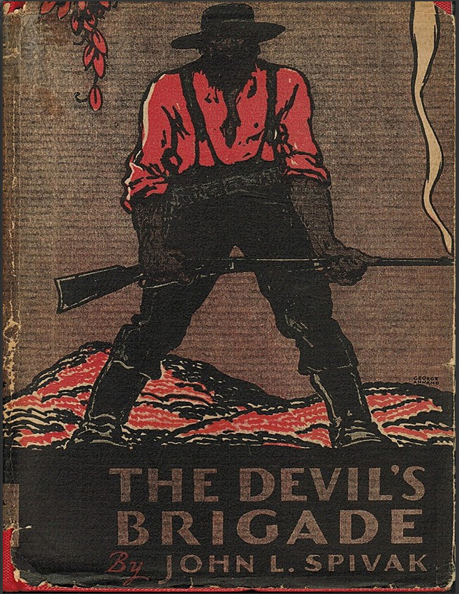 Cover of book The Devil's Brigade showing a man holding a smoking gun