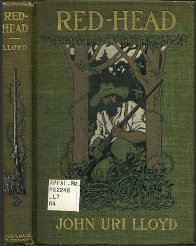 Cover of book Red-Head showing a man with a gun, crouching