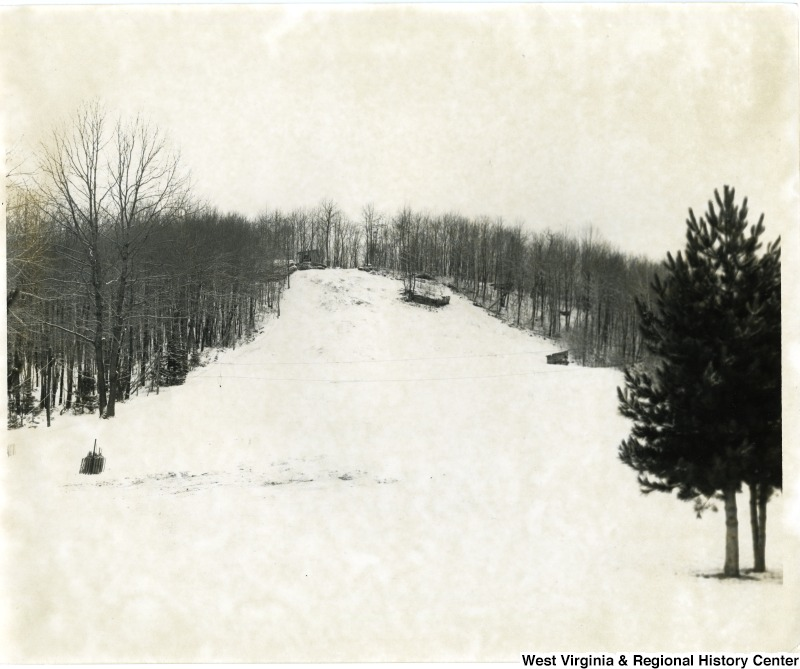 Chestnut Ridge Ski Run, Monongalia County, 1965.