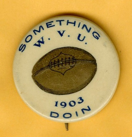 WVU football booster badge, 1903