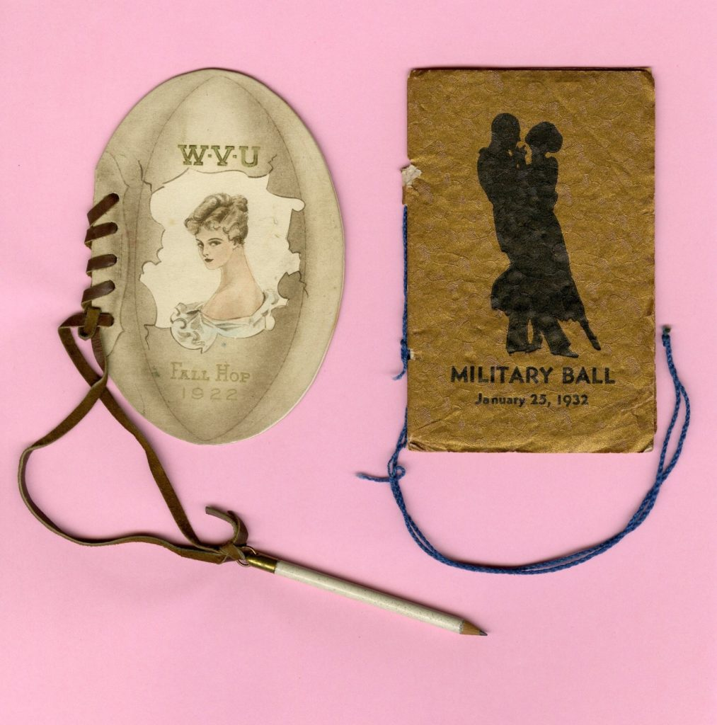 WVU Dance Cards, 1922 and 1932