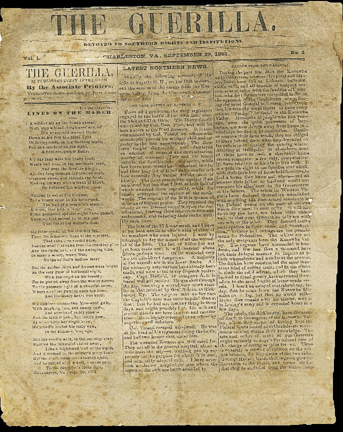Full page of the Guerilla newspaper