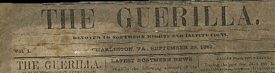 Masthead of newspaper titled The Guerilla