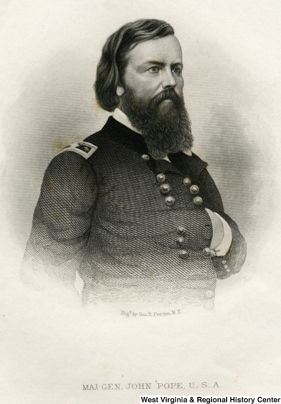 Portrait of Major General John Pope