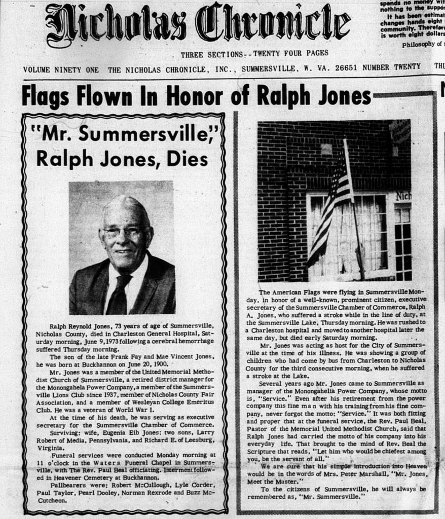 Obituary of Ralph Jones