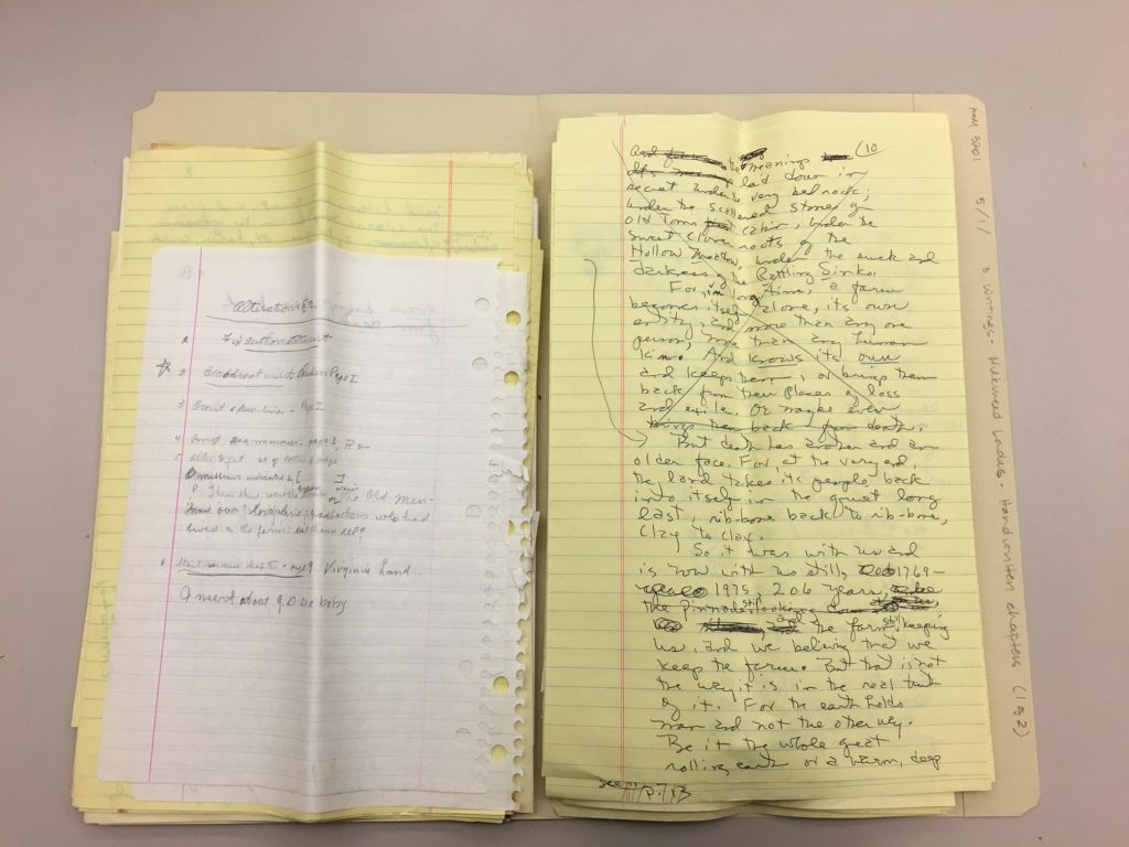 Manuscripts from Louise McNeill's papers