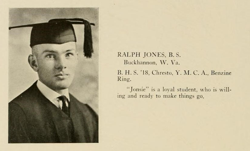 Ralph Jones image and blurb from Murmurmontis 1923
