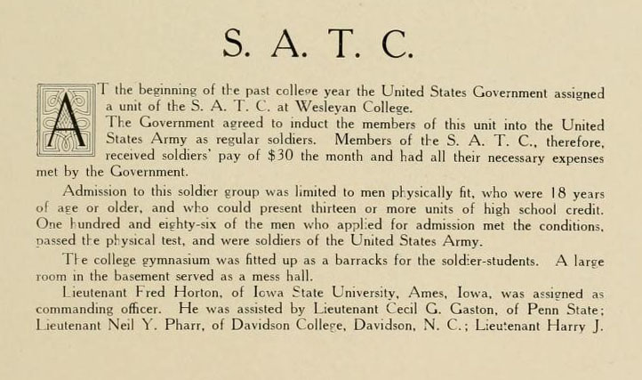 Description of the SATC from the Murmurmontis 1920