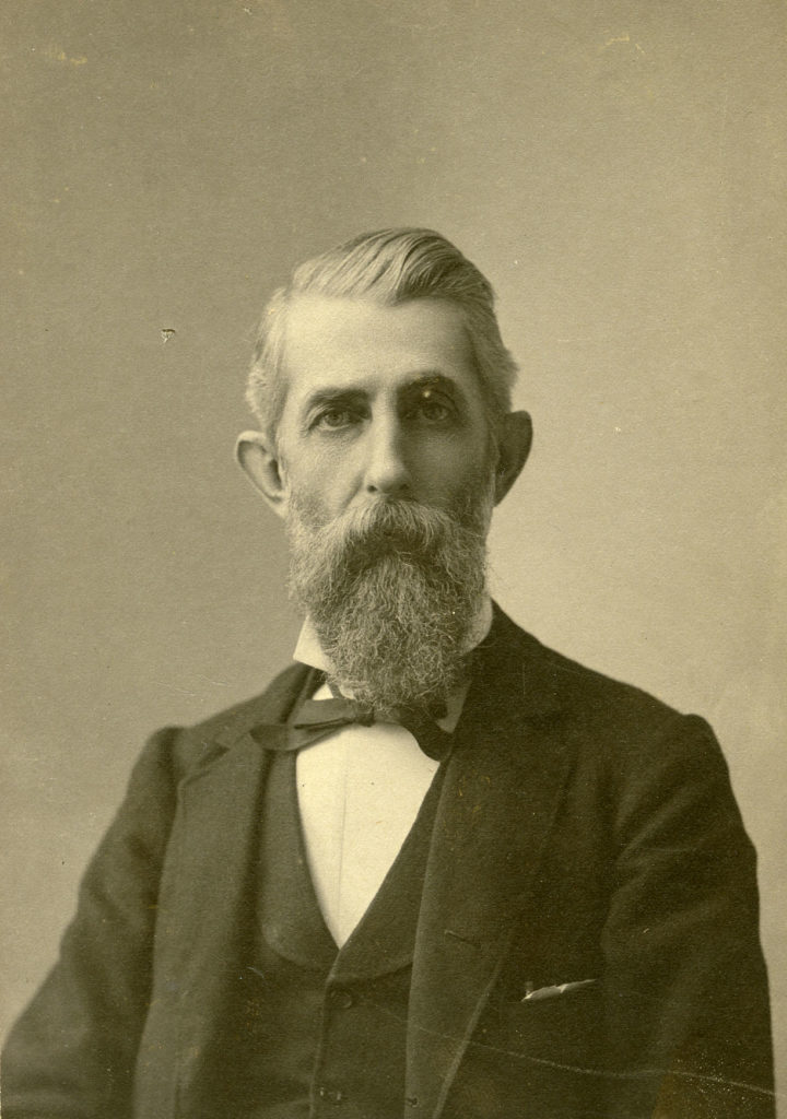 Portrait of John J. Davis, with grey hair