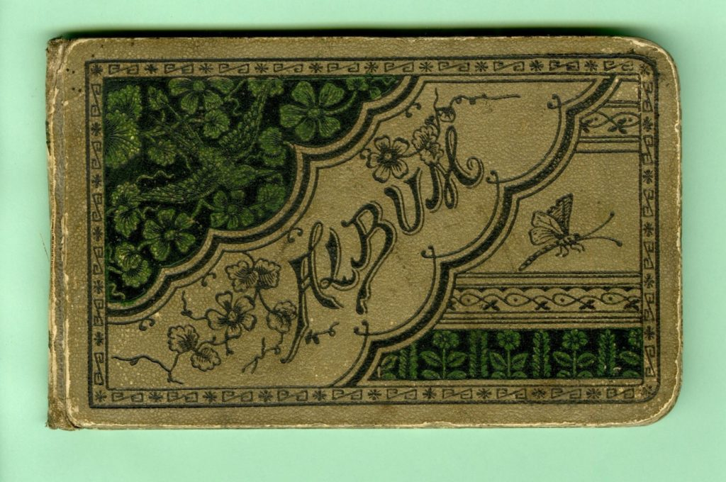 Cover of autograph book