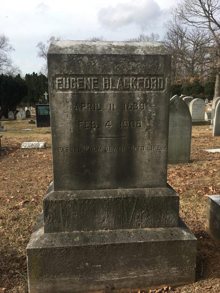Eugene Blackford's Gravestone