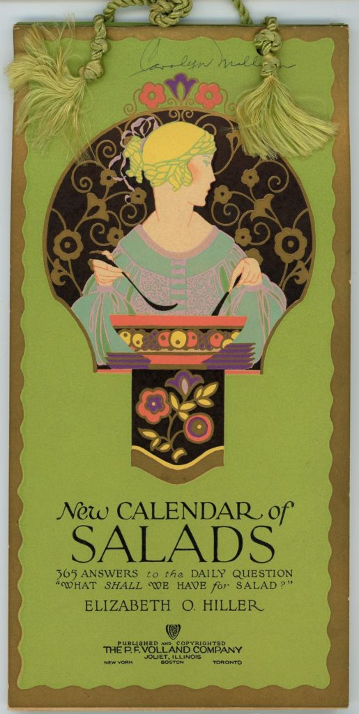 Cover of the New Calendar of Salads book
