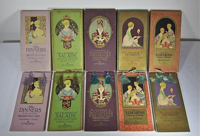 Covers of multiple different recipe calendars