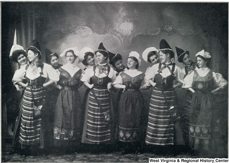 Female dancers in costume