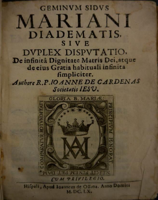 Title page of Geminum sidus mariani diadematis...