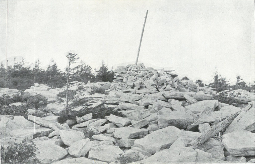 The rocky summit of Spruce Knob ca. 1910