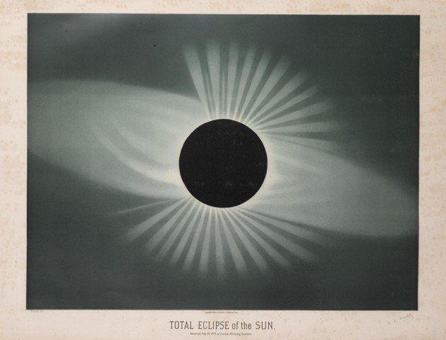 Artist's rendering of an eclipse, titled Total Eclipse of the Sun