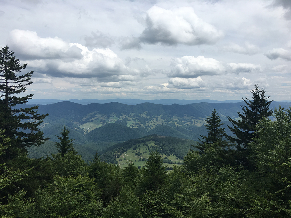 Scenic view from Spruce Knob, July 2017