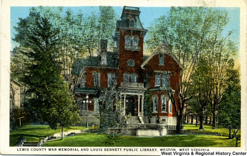 Postcard image depicting Louis Bennett public library