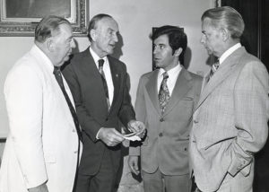 Congressman Rahall with senators Jennings and Byrd