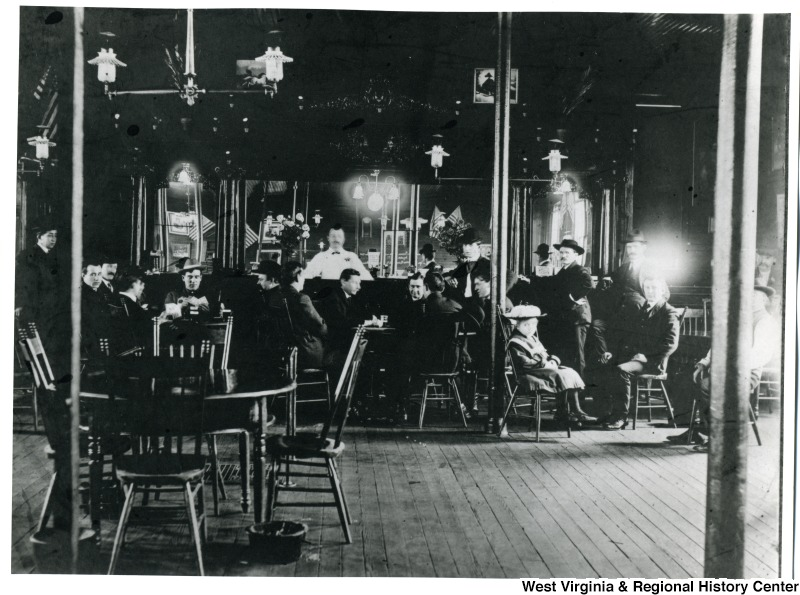 Interior view of a pub in Morgantown, WV