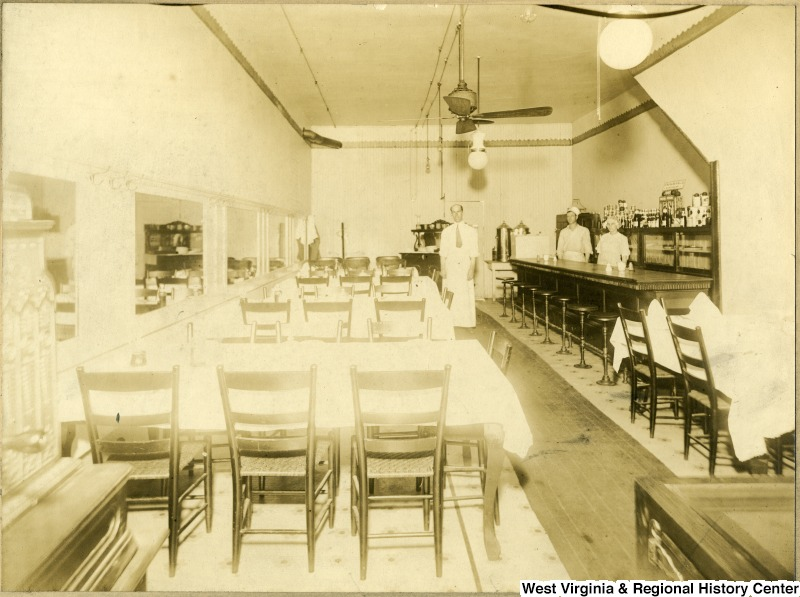 Interior of a restaurant in Clarksburg, WV