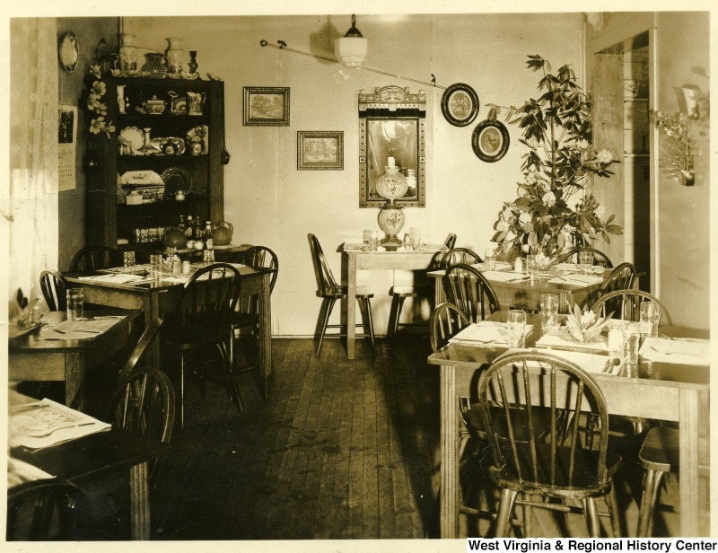 Interior of the Four Corners Restaurant in Grafton, WV