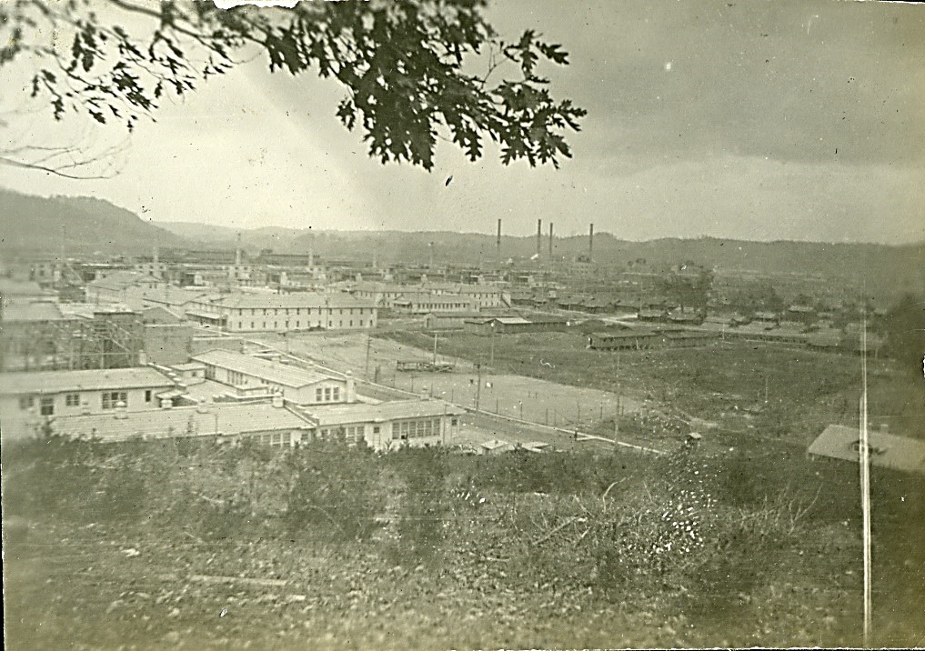 Town of Nitro as seen from nearby hill