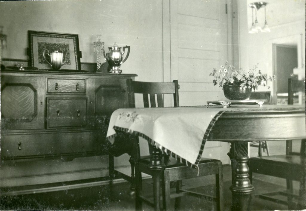 Interior of Minter home in Nitro, showing dining room