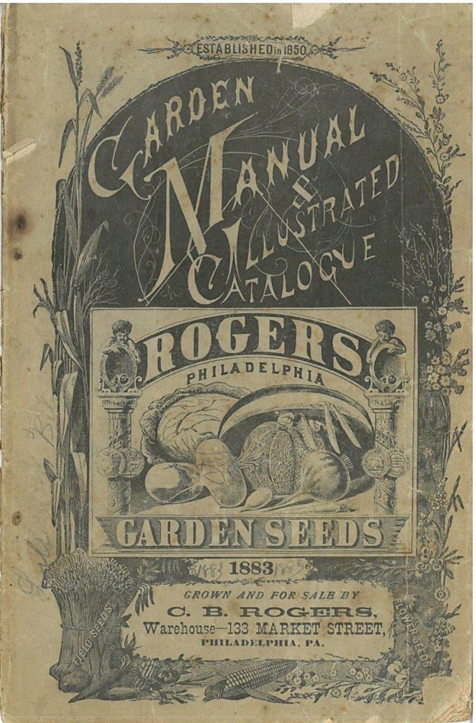 Cover of a 1883 garden catalog