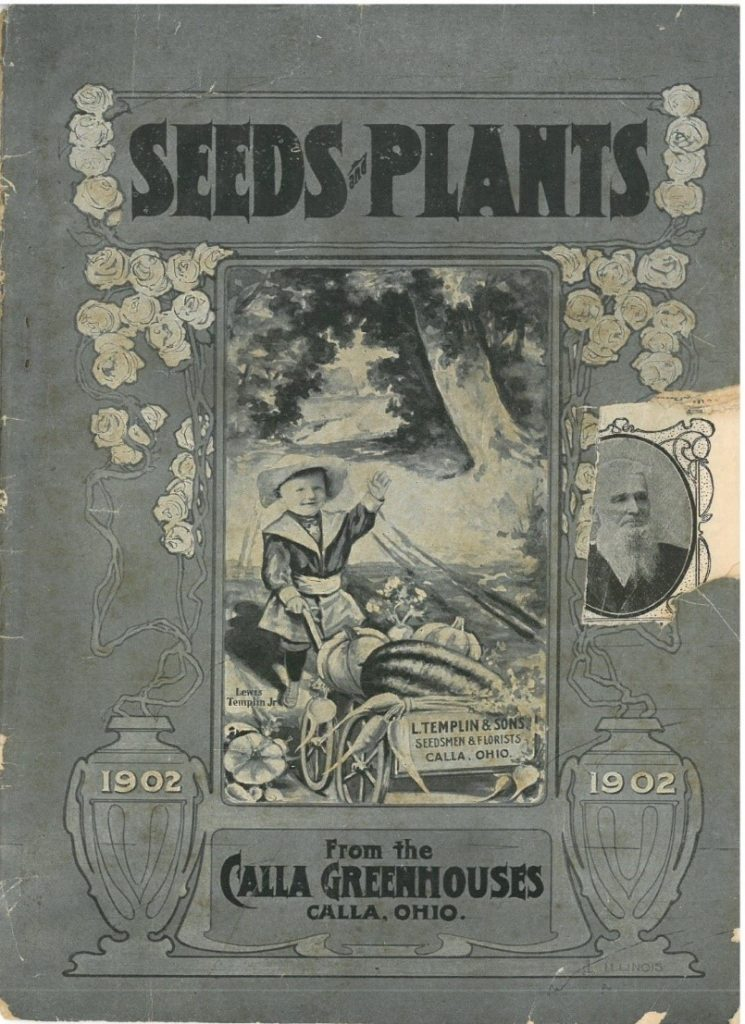 Front cover of 1902 greenhouse catalog