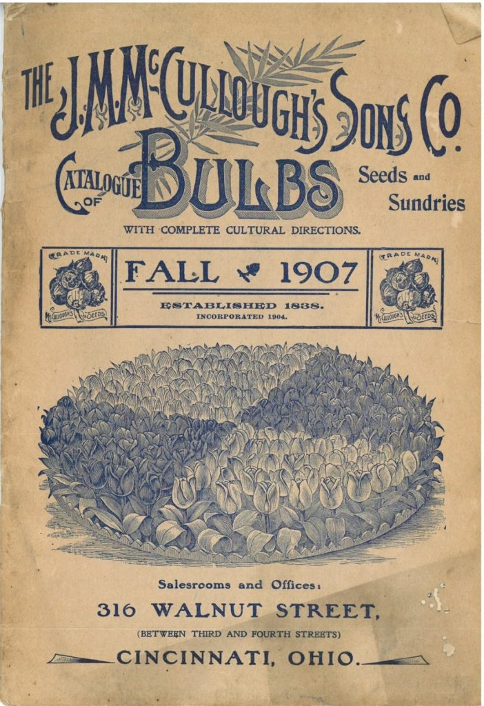 Cover of J.M. McCullough's Sons and Co. garden catalog for 1907